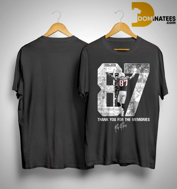 Rob Gronkowski 87 Thank You For The Memories Shirt