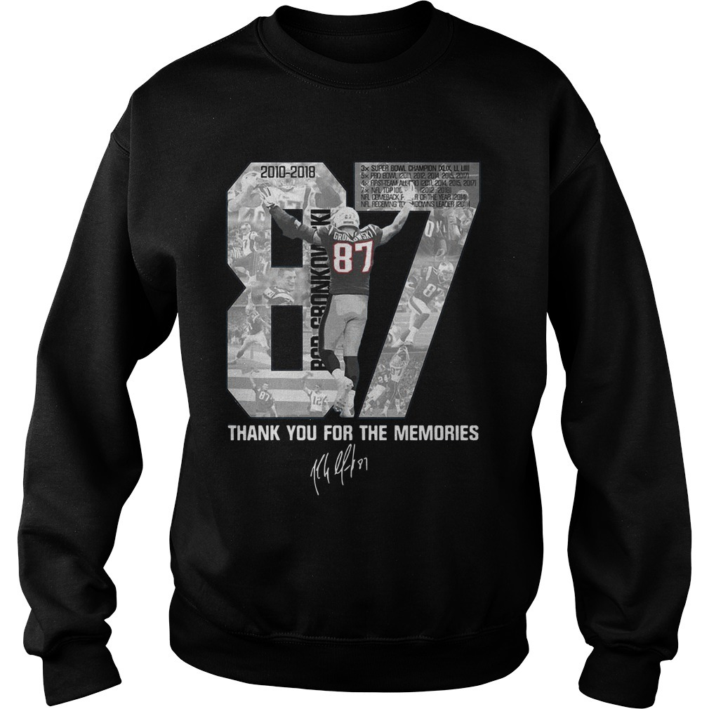 Rob Gronkowski 87 Thank You For The Memories SweaterRob Gronkowski 87 Thank You For The Memories Sweater