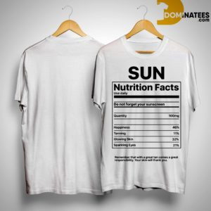 Sun Nutrition Facts Shirt