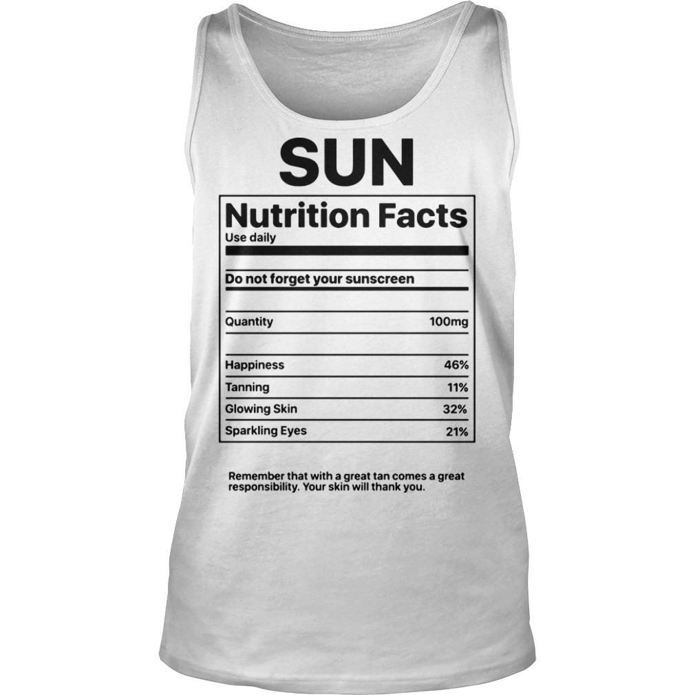 Sun Nutrition Facts Tank Top