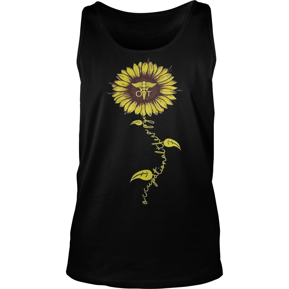 Sunflower Occupational Therapy Nurse Tank Top