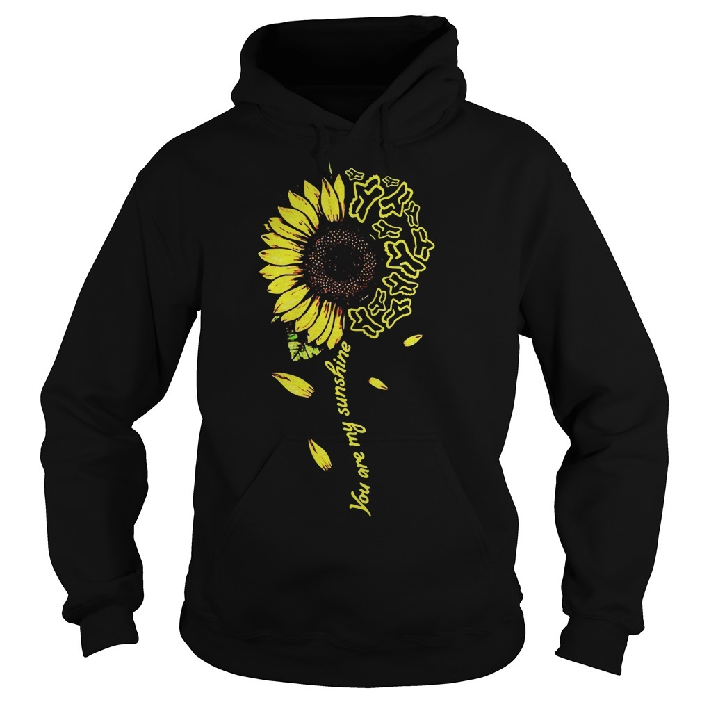 Sunflower You Are My Sunshine Fox Racing Hoodie