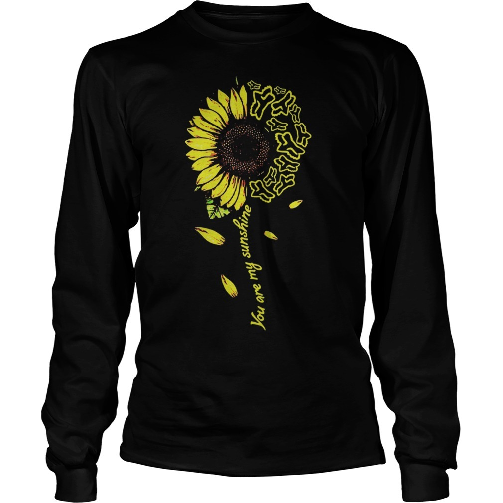 Sunflower You Are My Sunshine Fox Racing Long Sleeve Tee