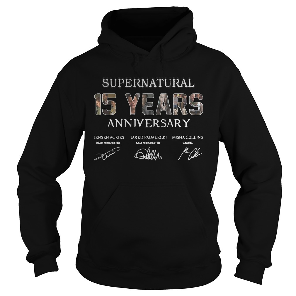 Supernatural 15 Years Anniversary All Signatures Hoodie