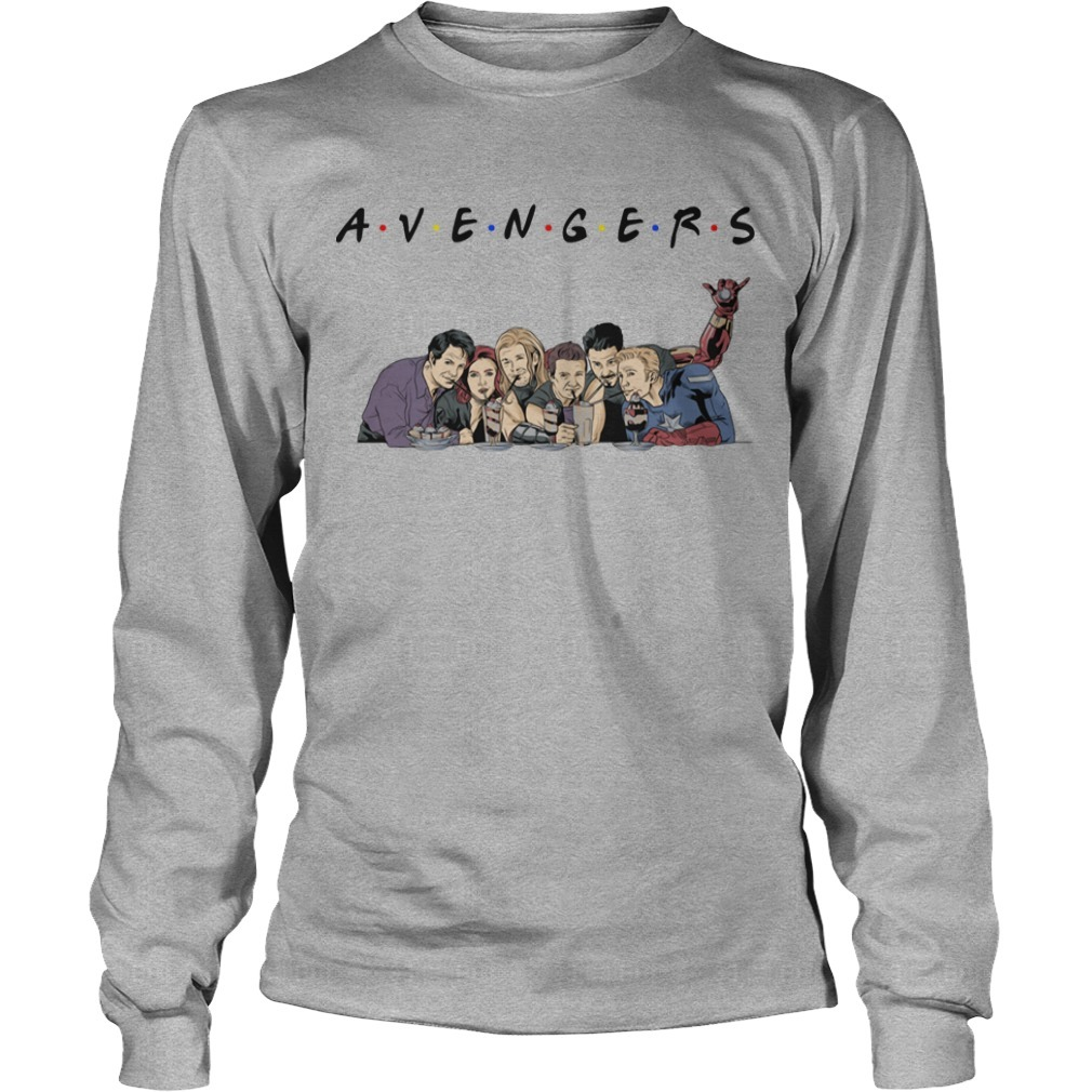 TV Shows parody avengers friends Long Sleeve Tee