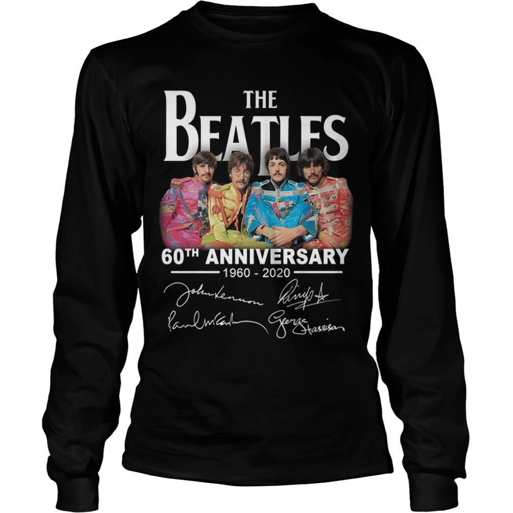 The Beatles 60th Anniversary 1960 2020 Long Sleeve Tee