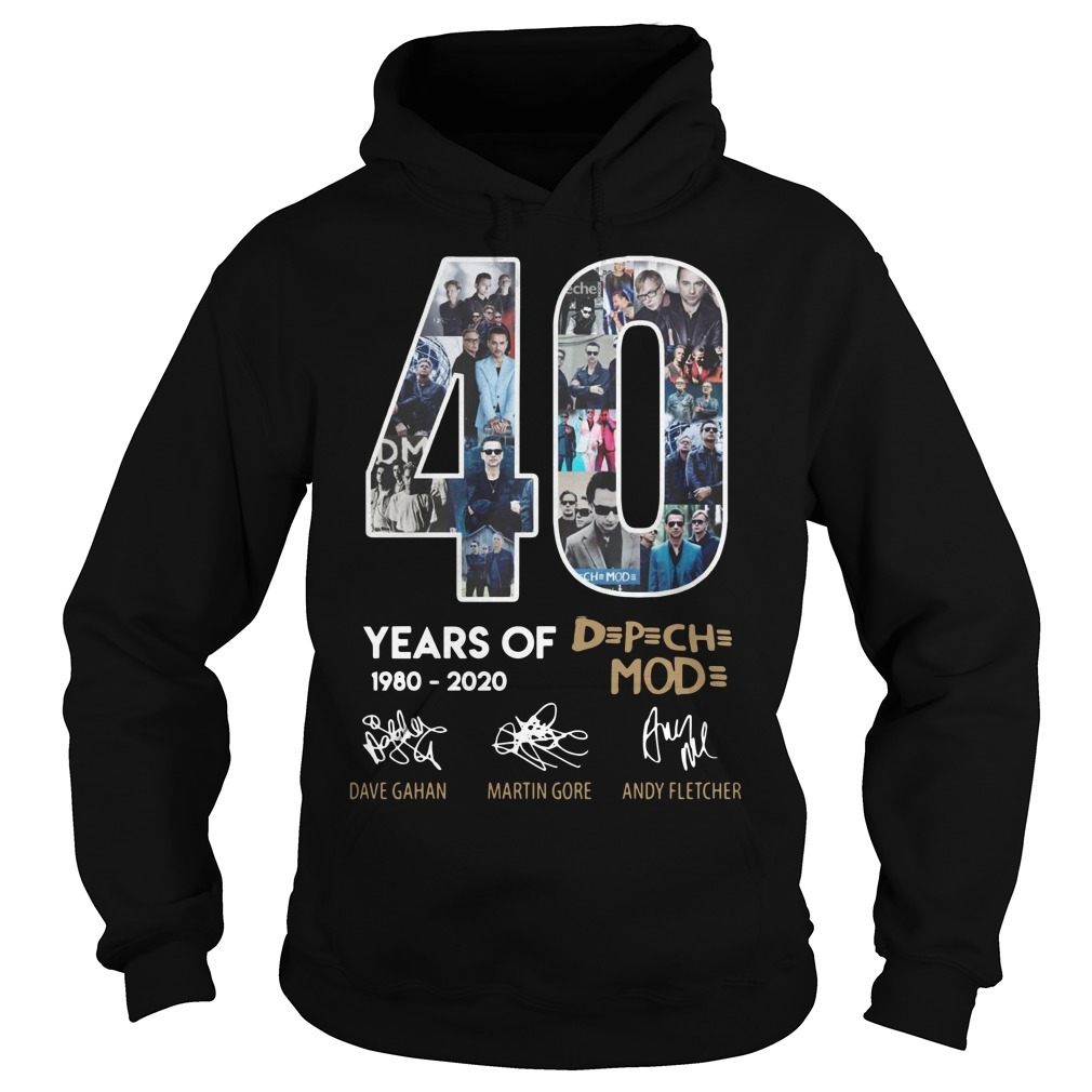40 Years Of Depeche Mode 1980 2020 Hoodie
