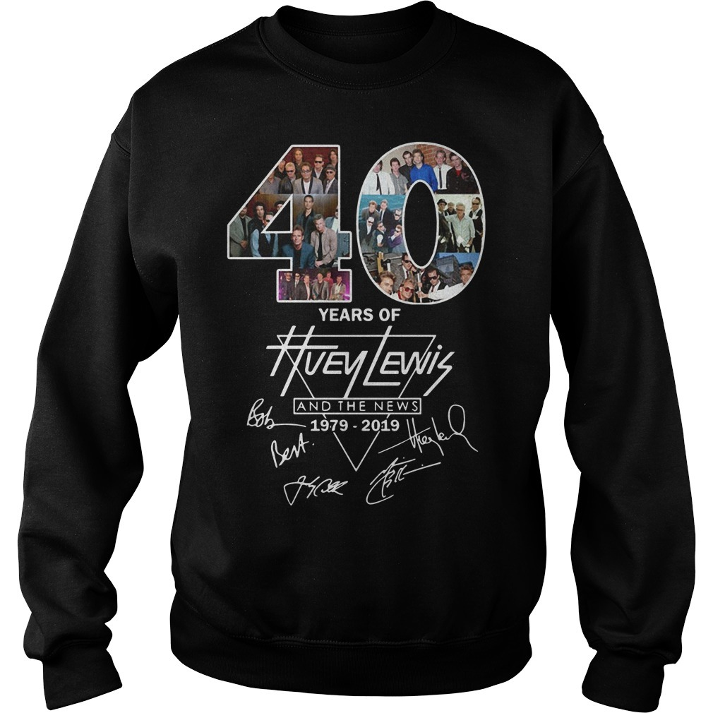 40 Years Of Huey Lewis And The News 1979 2019 Sweater
