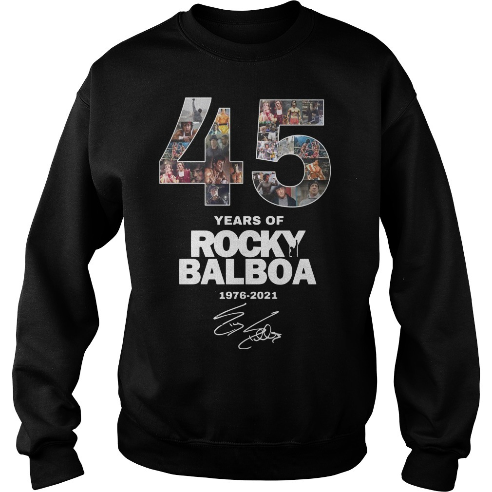 45 Years Of Rocky Balboa Shirt 1976 2021 Sweater