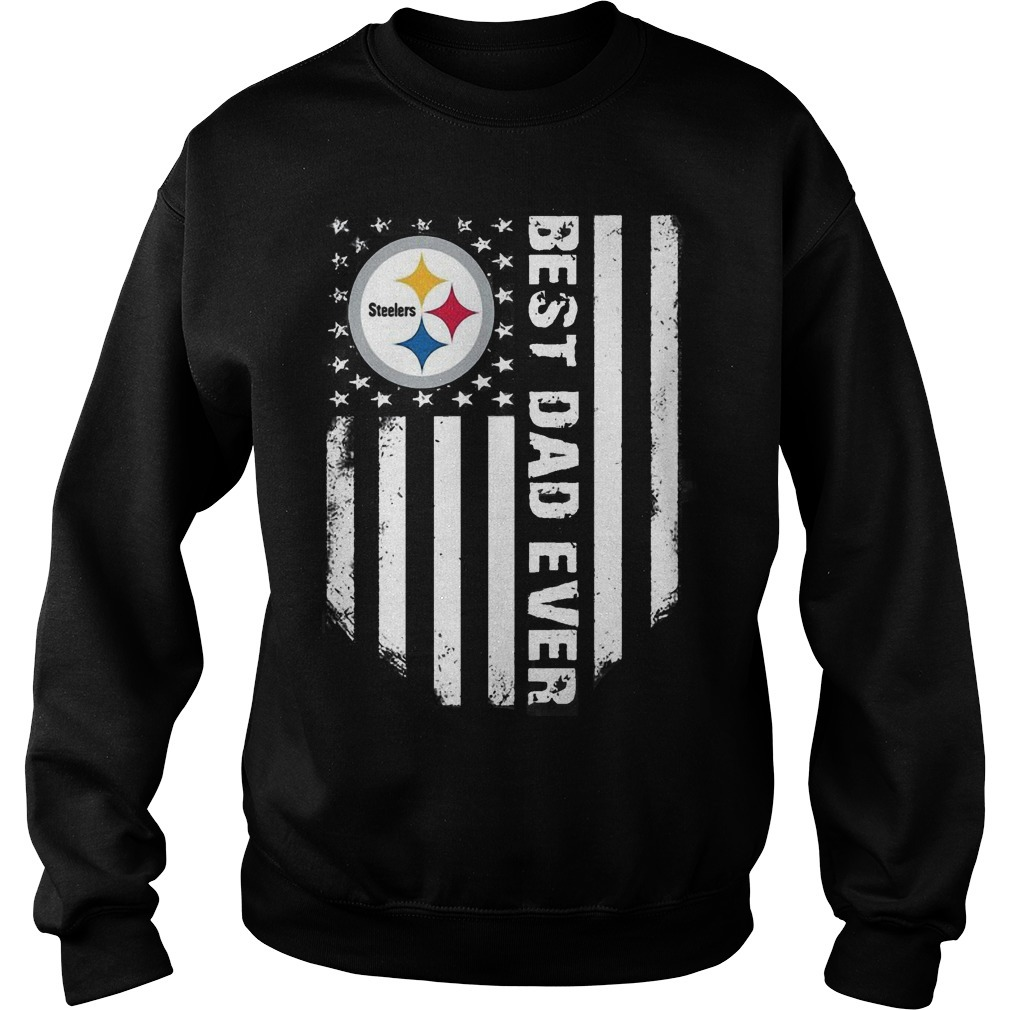 American Flag Steeler Pittsburgh Best Dad Ever Sweater