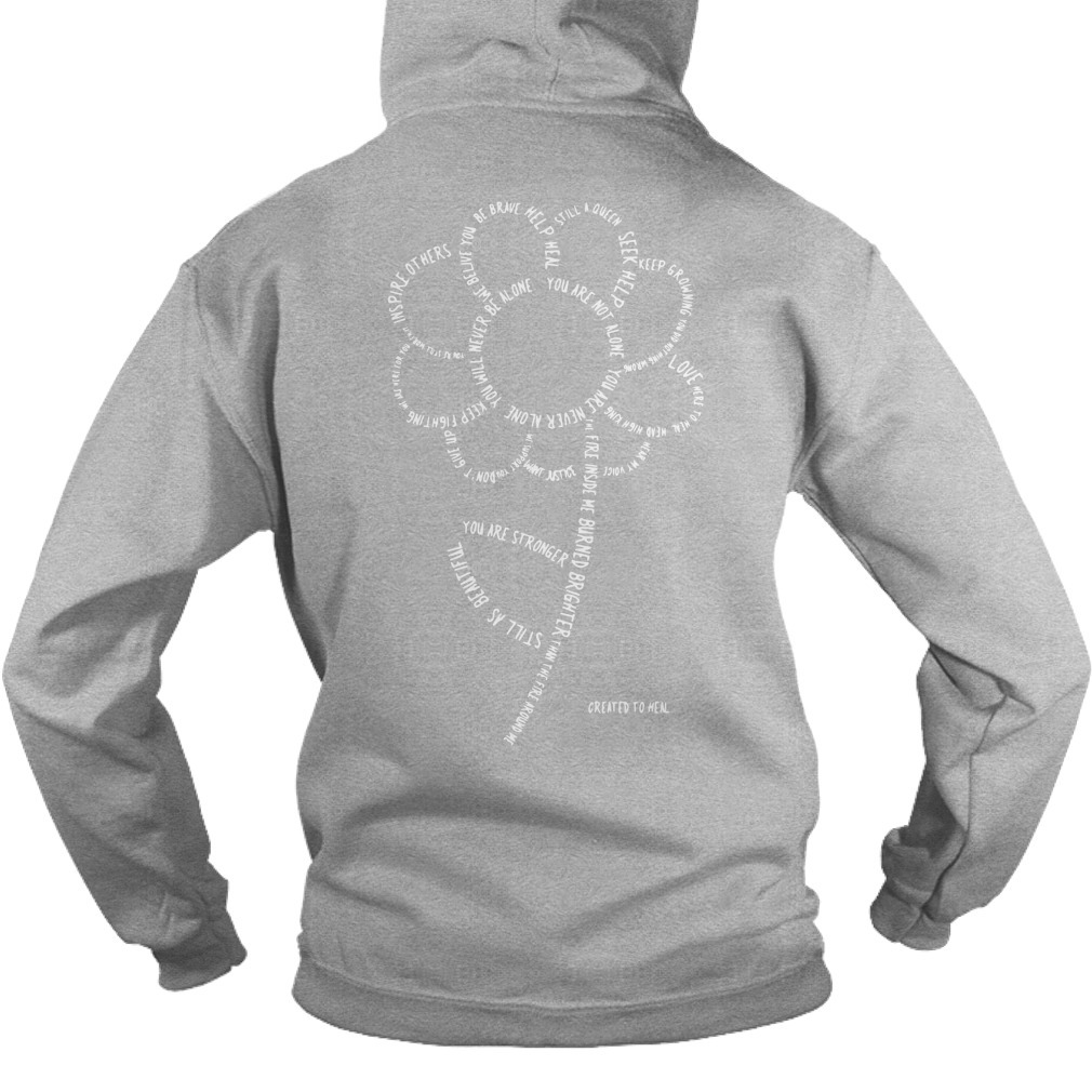 And From The Ash Grew Another Flower Signifying The Everlasting Growth Best Owed Back Hoodie