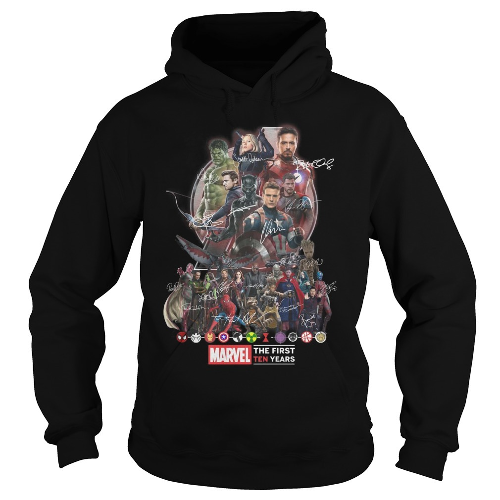 Avengers Team Marvel The First Ten Years Hoodie