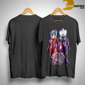 Dragon Ball Z Vegeta Iron Man Son Goku Captain America Avengers Endgame Shirt