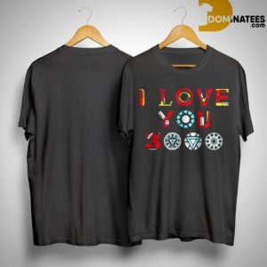 Endgame Tony Stark Iron Man I Love You 3000 Shirt