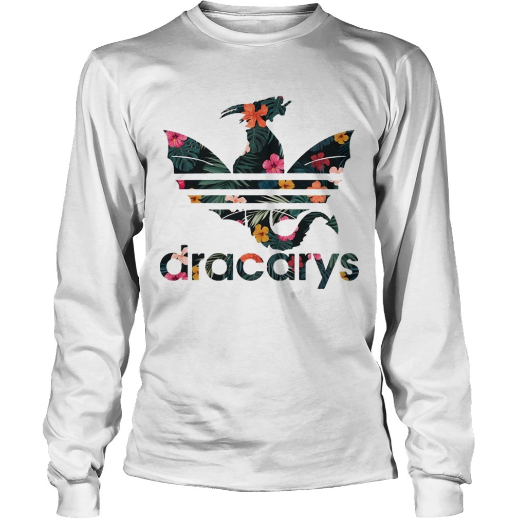 Floral Game Of Thrones Adidas Dracarys Long SLeeve Tee