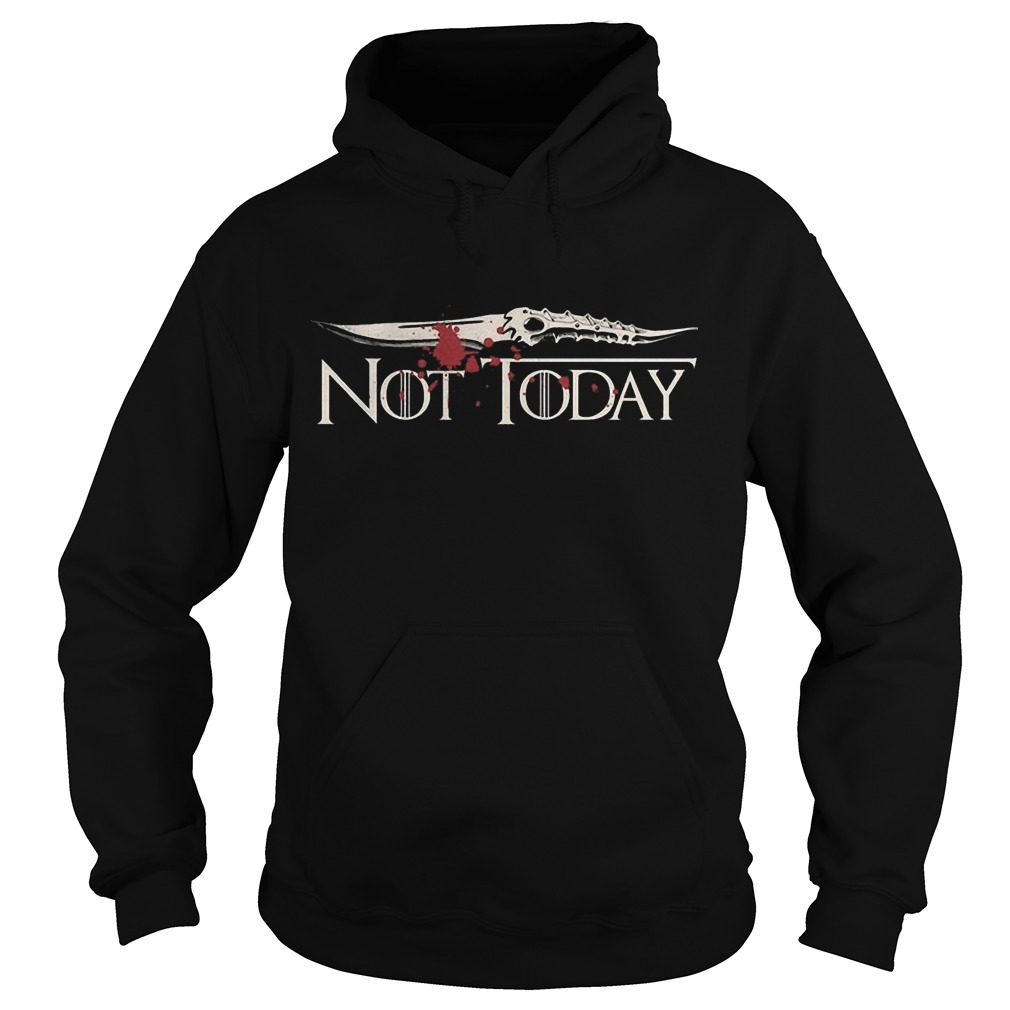 Game Of Thrones Not Today Blood Hoodie