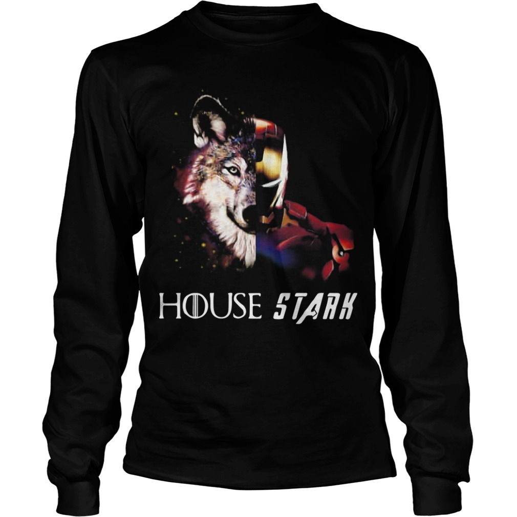 Game Of Thrones Wolf Iron Man House Stark Long Sleeve Tee
