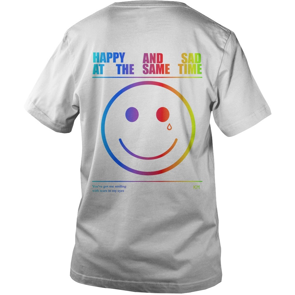 Happy And Sad At The Same Time You're Got Me Smilling With Tears In My Eyes Guys V Neck Shirt