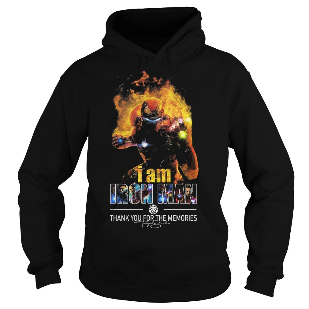 I Am Iron Man Thank You For The Memories Hoodie