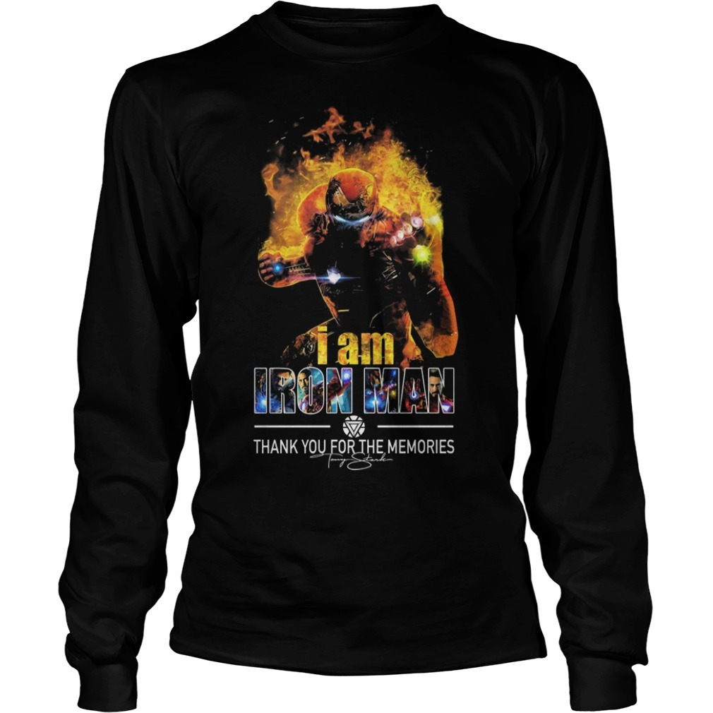 I Am Iron Man Thank You For The Memories Long Sleeve Tee