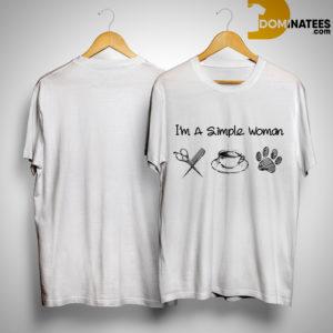 I'm A Simple Woman Like Haitcut Coffee And Dog Shirt