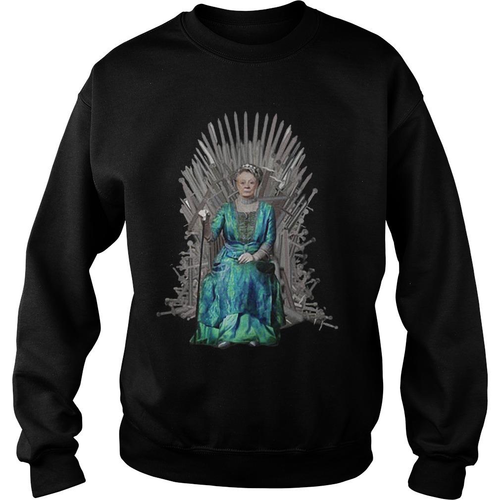 Iron Thrones Downton Abbey Maggie Smith Sweater
