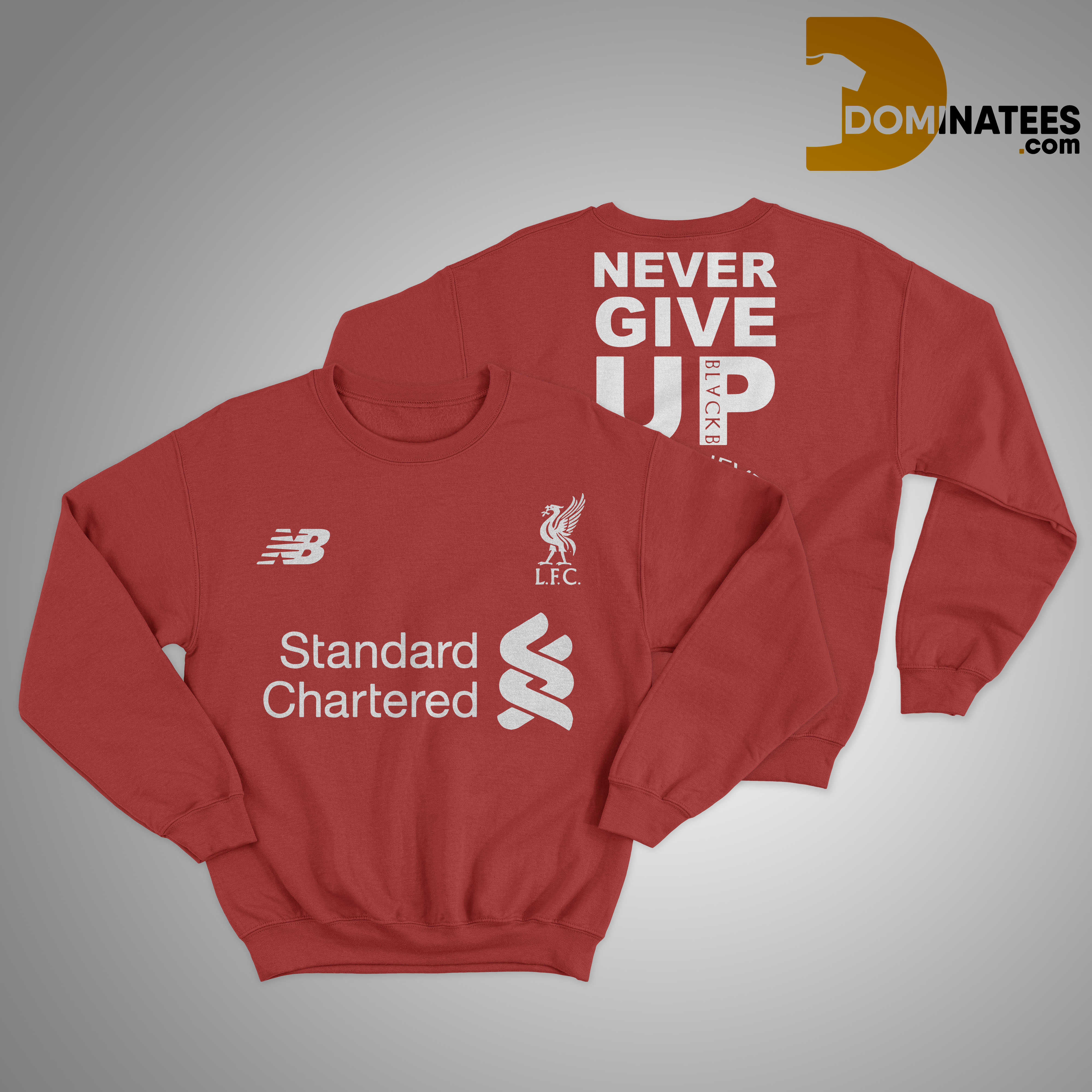 Liverpool Standard Chartered Never Give Up You'll Never Walk Alone Sweater