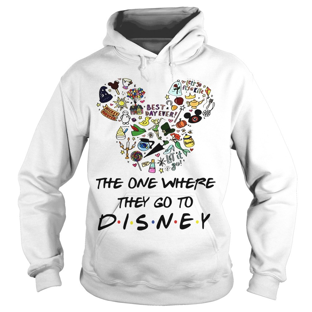 Mickey The One Where They Go To Disney Hoodie