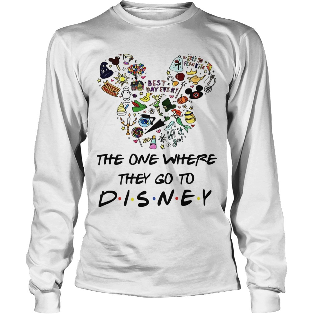 Mickey The One Where They Go To Disney Long Sleeve Tee