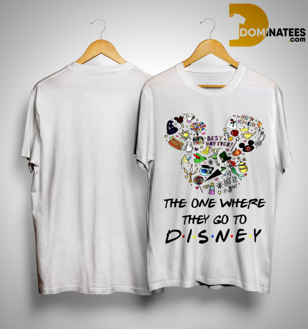 Mickey The One Where They Go To Disney Shirt