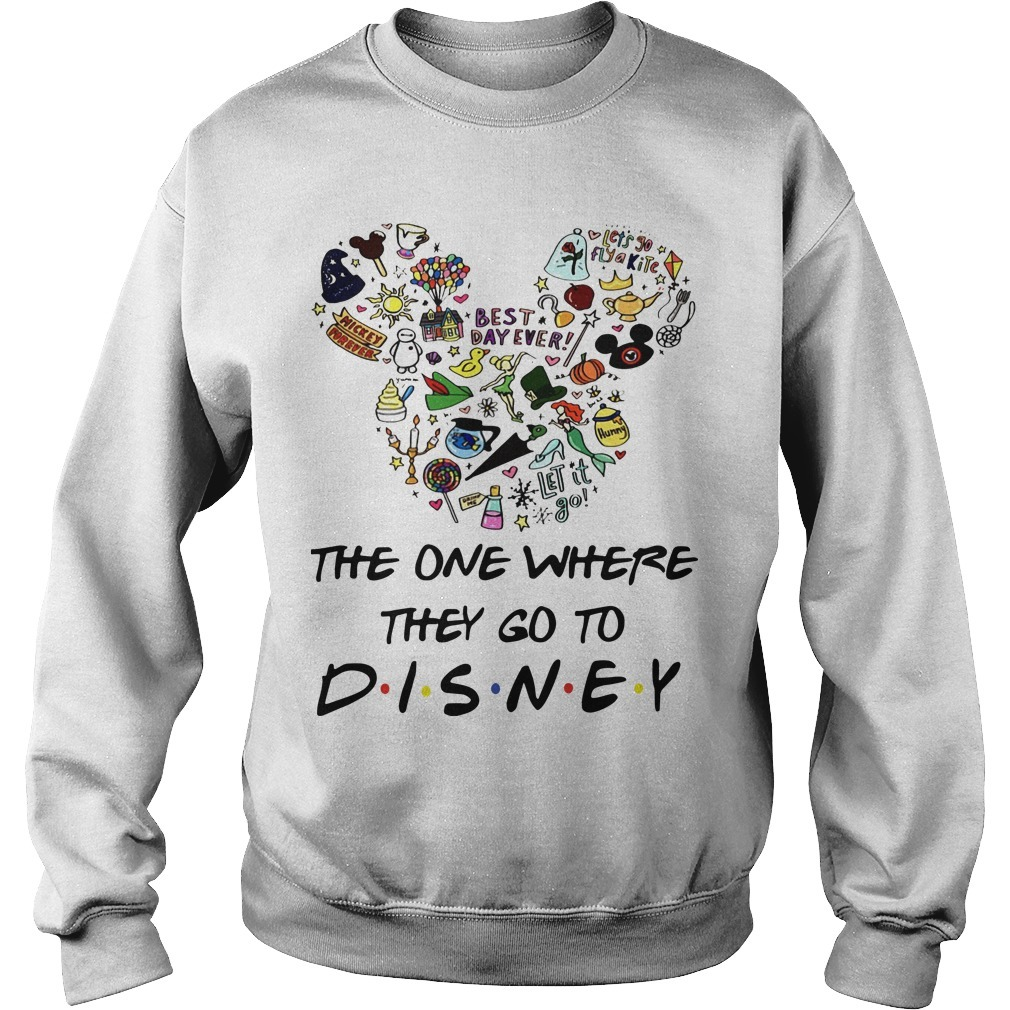 Mickey The One Where They Go To Disney Sweater