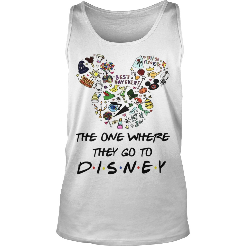 Mickey The One Where They Go To Disney Tank Top