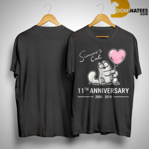 Simon's Cat 11th Anniversary 2008 2019 Shirt