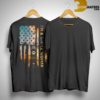 Sunset America Flag I'm A Simple Woman Like Jeep Dog Beach And Wine Shirt