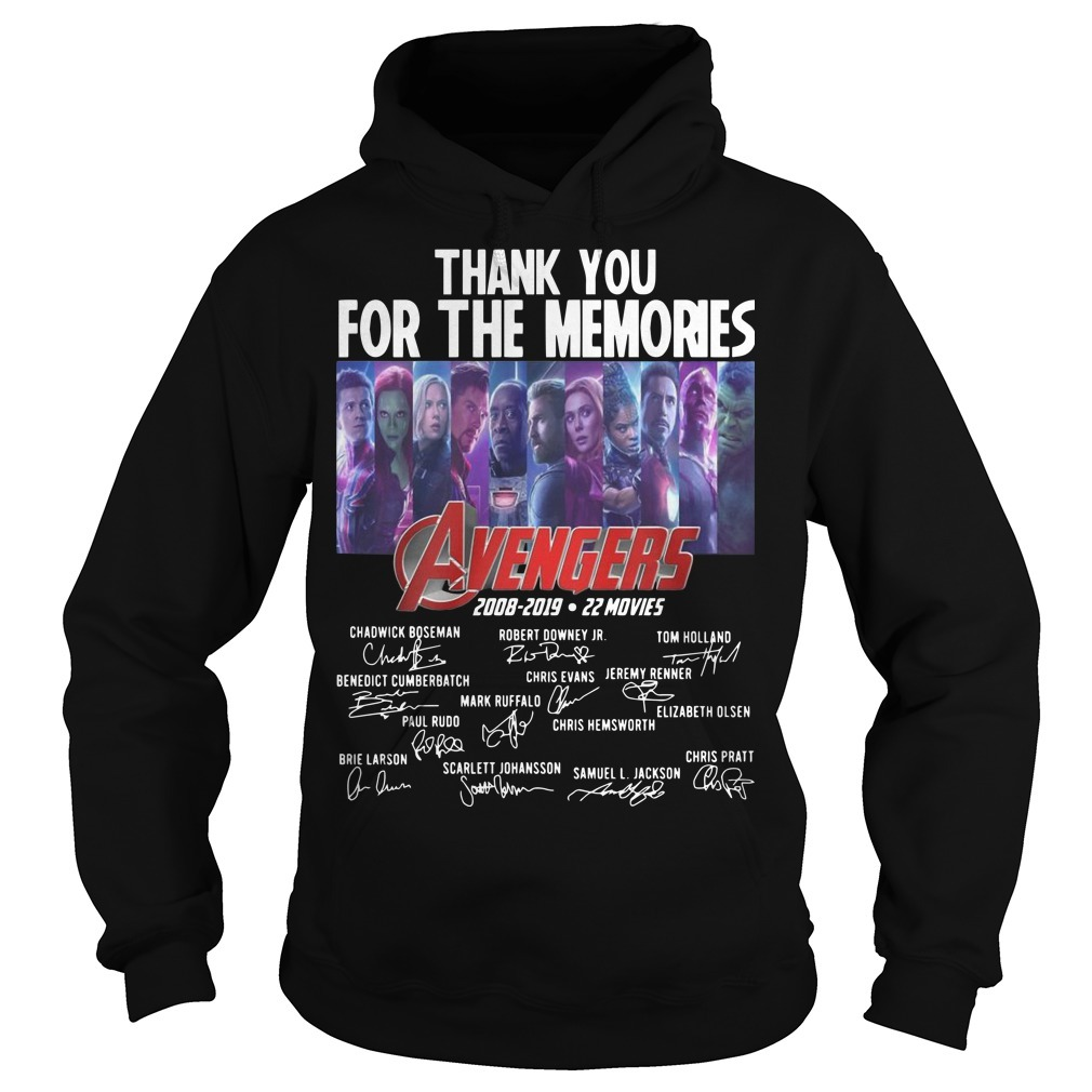 Thank You For The Memories Avengers 2008 2019 22 Movies Hoodie