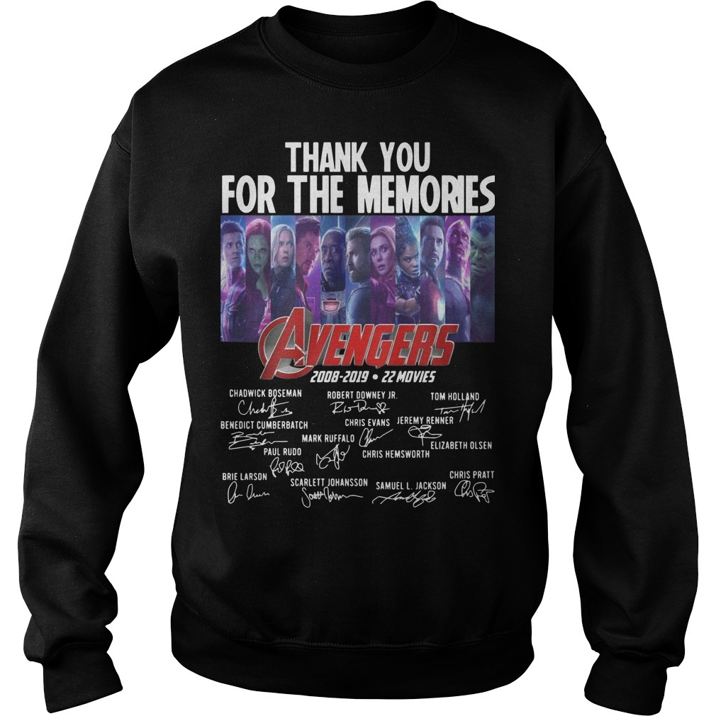 Thank You For The Memories Avengers 2008 2019 22 Movies Sweater