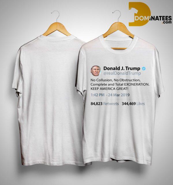 Trump Tweet No Collusion Shirt