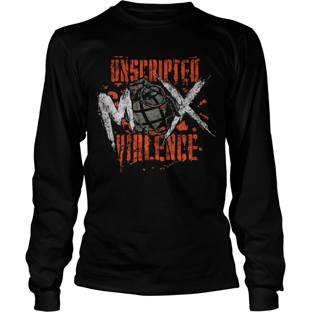 Unscripted Violence Jon Moxley Long Sleeve Tee