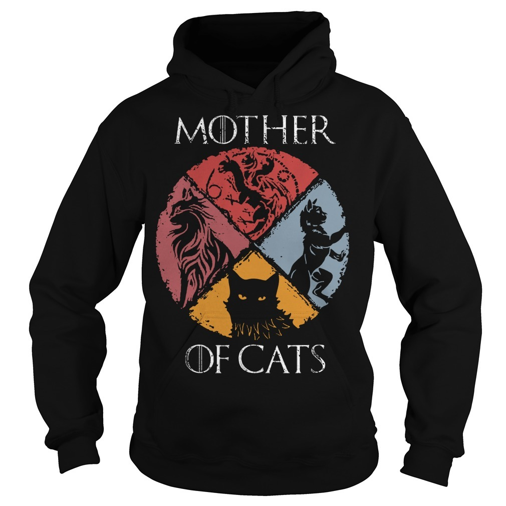 Vintage GOT Mother Of Cats Hoodie