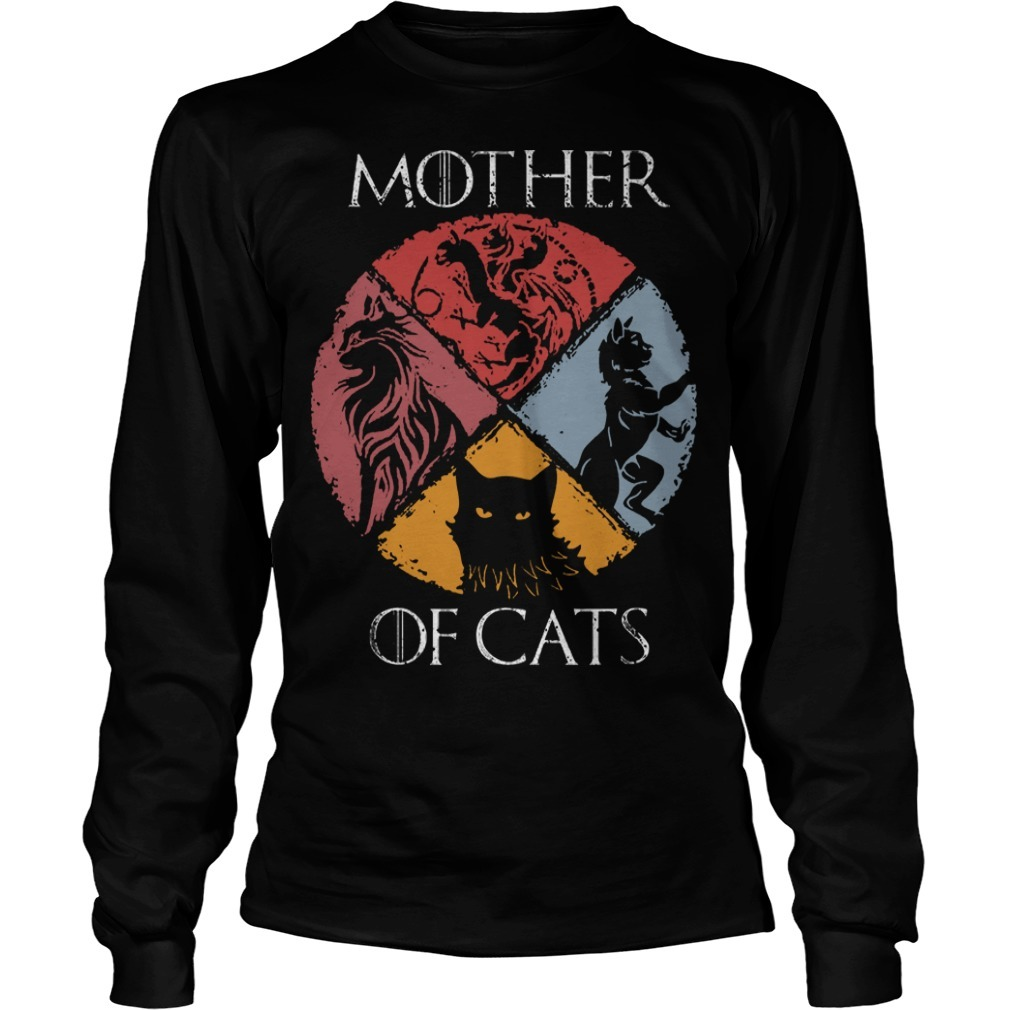 Vintage GOT Mother Of Cats Long SLeeve Tee