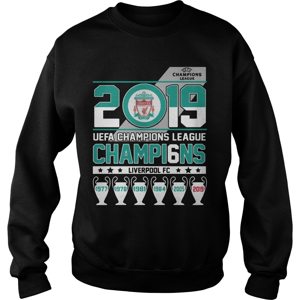 2019 UEFA Champions League Champi6ns Liverpool Fc Sweater