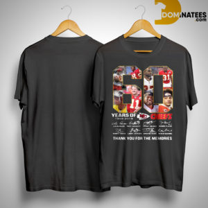 60 Years Of Kansas City Chiefs 1959 2019 Thank You For The Memories Shirt