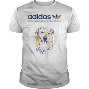 Adidas All Day I Dream About Golden Retriever Shirt