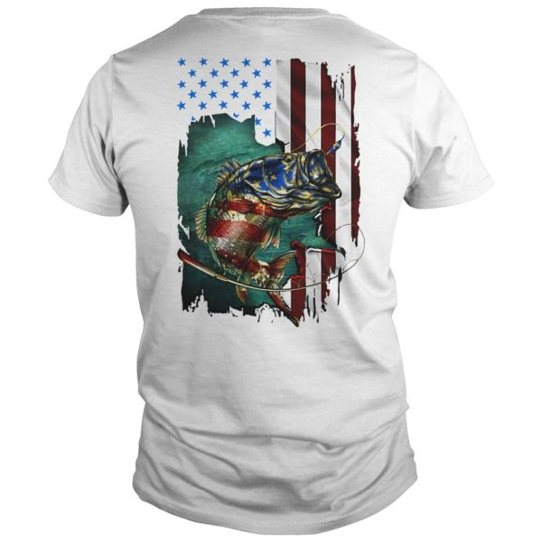 American Flag Fishing Salmon Shirt