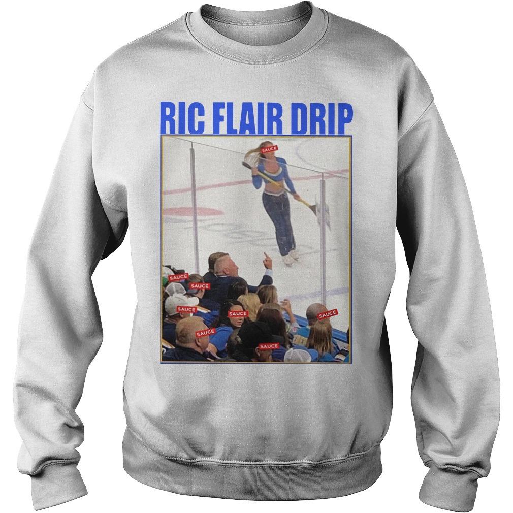 Brett Hull Ric Flair Drip Sweater