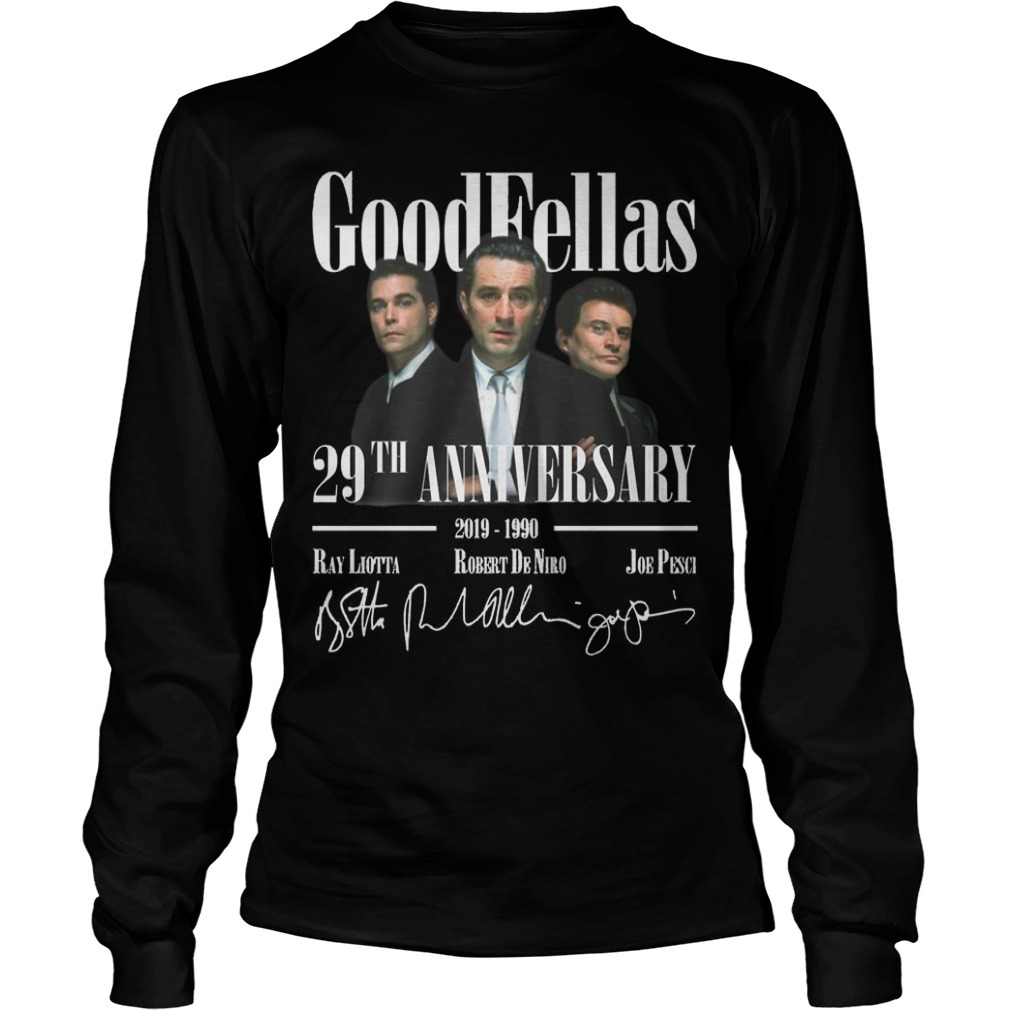 Goodfellas 29th Anniversary 2019 1990 Signatures Long Sleeve Tee