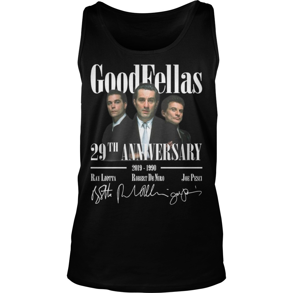 Goodfellas 29th Anniversary 2019 1990 Signatures Tank Top