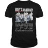 Grey's Anatomy 2005 2020 15 Seasons 327 Episode Thank You For The Memories Shirt