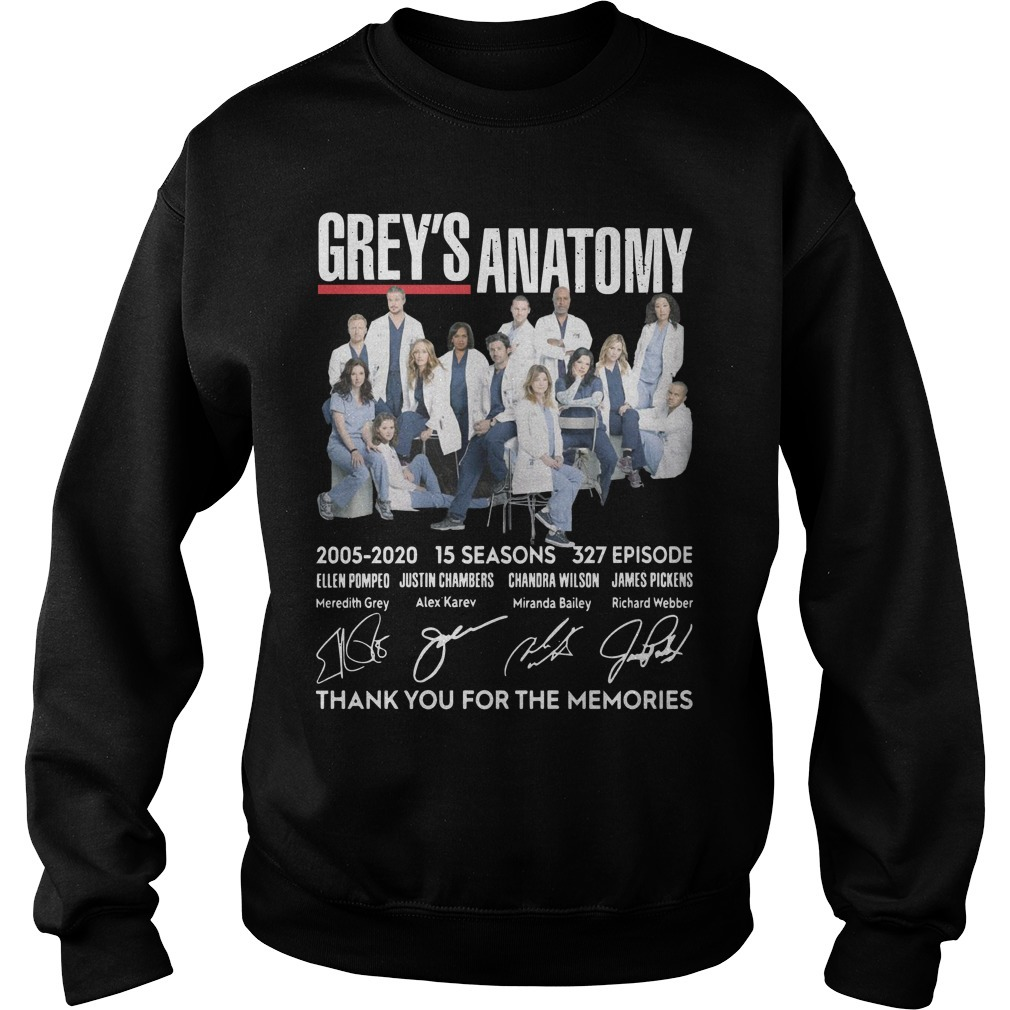 Grey's Anatomy 2005 2020 15 Seasons 327 Episode Thank You For The Memories Sweater