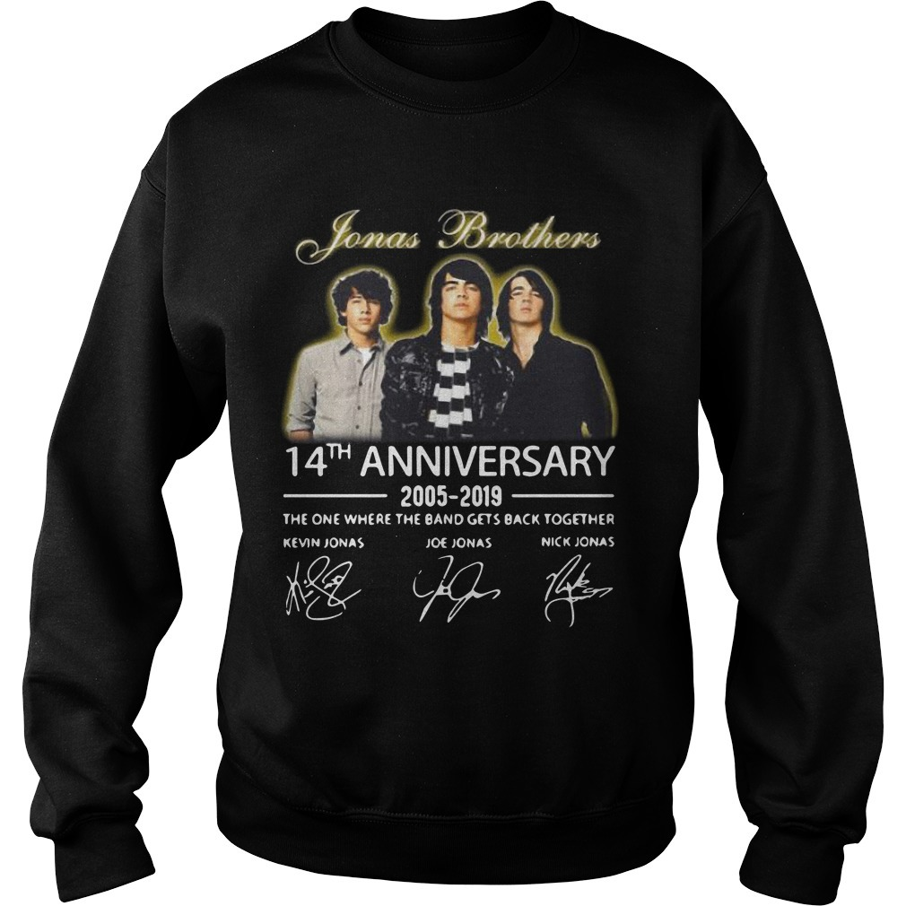 Jonas Brothers 14th Anniversary 2005 2019 The One Where The Band Gets Back Together Sweater